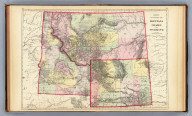 County and township map, Montana, Idaho and Wyoming. Copyright 1887 by Wm. M. Bradley & Bro. (1890)