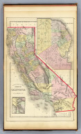 County map of the state of California. (with) San Francisco. (with) San Francisco Bay and vicinity. Copyright 1886 by Wm. M. Bradley & Bro. (1890)