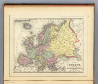 Map of Europe, showing its gt. political divisions. Constructed & engraved by W. Williams, Phila. Copyright 1887 by Wm. M. Bradley & Bro. (1890)
