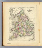 County map of England, and Wales. Copyright 1887 by Wm. M. Bradley & Bro. (1890)