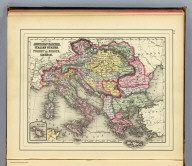 Map of the Austrian Empire, Italian States, Turkey in Europe, and Greece. (with) Maltese Islands. Copyright 1887 by Wm. M. Bradley & Bro. (1890)