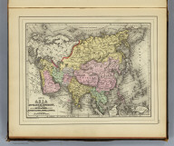 Map of Asia showing its gt. political divisions, and also various routes of travel between London & India, China & Japan &c. Constructed & engraved by W. Williams, Phila. Copyright 1887 by Wm. M. Bradley & Bro. (1890)