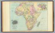 Africa. (with) Lower Egypt or the Delta of the Nile. (with) Island of St. Helena. Copyright 1887 by Wm. M. Bradley & Bro. (1890)