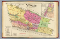 City of Yonkers, New York. Index. (with) Map showing location of city of Yonkers. A.H. Mueller, lith., Philada. Copyright 1907 by A.H. Mueller.