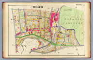 Part of Yonkers. Plate 9. (A.H. Mueller, lith., Philada., 1907)
