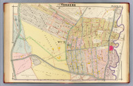 Part of Yonkers. Plate 19. (A.H. Mueller, lith., Philada., 1907)