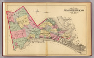 Outline map of Westchester Co., New York. (From actual surveys and official records by G.W. Bromley & Co., Civil Engineers. Published by Geo. W. & Walter S. Bromley, 1881)