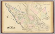 Town of Pelham. (with) Pelham-Manor. (From actual surveys and official records by G.W. Bromley & Co., Civil Engineers. Published by Geo. W. & Walter S. Bromley, 1881)