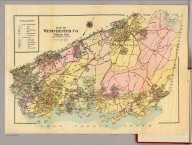 Map of Westchester Co. Volume one. (G.W. Bromley & Co., 34 Pine Street, New York, 1914)