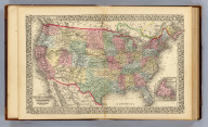 Map of the United States and territories. Together with Canada &c. (with) Island of Newfoundland. Constructed & engraved by W. Williams, Philadelphia. Entered ... 1870 by S. Augustus Mitchell, Jr. ... Pennsylvania.