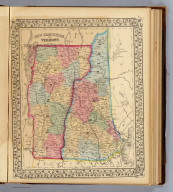 New Hampshire and Vermont. Drawn & engd. by W.H. Gamble. Entered ... 1870 by S. Augustus Mitchell, Jr. ... Pennsylvania.