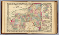 County map of the state of New York. (with) Troy, West Troy. (with) Albany. (with) Harbor and vicinity of New York. (with) Rochester. (with) Buffalo. Drawn and engraved by W.H. Gamble, Philadelphia. Entered ... 1870 by S. Augustus Mitchell, Jr. ... Pennsylvania.