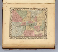 Plan of Baltimore. Entered ... 1870 by S. Augustus Mitchell, Jr. ... Pennsylvania.