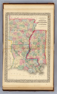 County map of the states of Arkansas, Mississippi and Louisiana. Drawn and engraved by W.H. Gamble, Philadelphia. Entered ... 1870 by S. Augustus Mitchell, Jr. ... Pennsylvania.