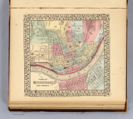 Plan of Cincinnati and vicinity. Entered ... 1870, by S. Augustus Mitchell, Jr. ... Pennsylvania.