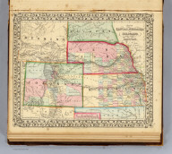 Map of Kansas, Nebraska and Colorado. Showing also the southern portion of Dacotah. Drawn and engraved by W.H. Gamble, Philada. Entered ... 1870 by S. Augustus Mitchell, Jr. ... Pennsylvania.