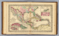 Map of Mexico, Central America, and the West Indies. (with) Map of the island of Cuba. (with) Map of the island of Jamaica. (with) Map of the Bermuda Islands. (with) Map of the Panama Railroad. Constructed & engraved by W. Williams, Philadelphia. Entered ... 1870 by S. Augustus Mitchell, Jr. ... Pennsylvania.