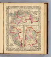 Map of New Granada, Venezuela and Guiana. (with) Map of Peru, and Equador. (with) Map of the Argentine Confederation. Entered ... 1870 by S. Augustus Mitchell, Jr. ... Pennsylvania.