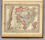 Map of Brazil, Bolivia, Paraguay, and Uruguay. (with) Map of Chili. (with) Harbor of Bahia. (with) Harbor of Rio Janeiro. (with) Island of Juan Fernandez. Entered ... 1870 by S. Augustus Mitchell, Jr. ... Pennsylvania.