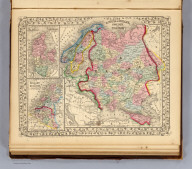 Russia in Europe, Sweden and Norway. (with) Map of Denmark. (with) Map of Holland and Belgium. Entered ... 1870 by S. Augustus Mitchell, Jr. ... Pennsylvania.