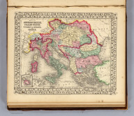 Map of the Austrian Empire, Italian States, Turkey in Europe, and Greece. (with) Maltese Islands. Entered ... 1867 by S. Augustus Mitchell, Jr. ... Pennsylvania. (1870)