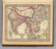 Map of Hindoostan, Farther India, China, and Tibet. Constructed & engraved by W. Williams, Phila. Entered ... 1870 by S. Augustus Mitchell, Jr. ... Pennsylvania.