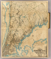 Index map of the greater portion of Westchester County including Greenwich and Stamford, Ct. and the upper part of New York City. Published by Hyde & Company, 97 Liberty St., Brooklyn, N.Y. 1900.