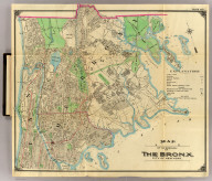 Map of the borough of the Bronx. City of New York. (Published by Hyde & Company, 97 Liberty St., Brooklyn, N.Y. 1900)