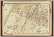 Double page 1. (Atlas of the rural country district north of New York City embracing the entire Westchester County, New York, also a portion of Connecticut ... Published by E. Belcher Hyde, 1908)