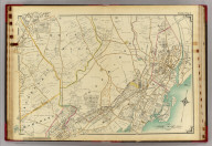 Double Page 4. (Atlas of the rural country district north of New York City embracing the entire Westchester County, New York, also a portion of Connecticut ... Published by E. Belcher Hyde, 1908)