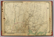 Double Page 8. (Atlas of the rural country district north of New York City embracing the entire Westchester County, New York, also a portion of Connecticut ... Published by E. Belcher Hyde, 1908)
