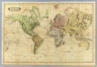Chart of the World on Mercator's projection. Published by D. Lizars, Edinburgh. (1831?)