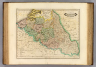 United Kingdom of the Netherlands, Belgic provinces. Exhibiting also the departments & boundaries as settled by the Confederation of the Rhine. Published by D. Lizars, Edinburgh. (1831?)