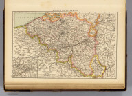 "Belgium and Luxemburg. (with) Environs of Charleroi. (Published at the office of ""The Times,"" London, 1895)"