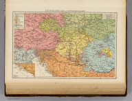 """Ethnographic map of Austria-Hungary. (with) Southern part of Dalmatia. (Published at the office of """"The Times,"""" London, 1895)"""
