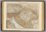 "Austria-Hungary, general map (with) Vienna & environs. (Published at the office of ""The Times,"" London, 1895)"