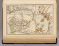 """West Africa, colonial map. (with) Mouth of the Cameroons River. (Published at the office of """"The Times,"""" London, 1895)"""