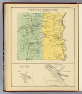 Webster and Boscawen. (with) Webster P.O., town of Webster. (with) Boscawen Plains P.O., town of Boscawen, Valley of Industry, town of Canterbury. (D.H. Hurd & Co., Boston. 1892)