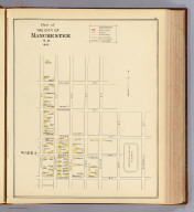 Part of the city of Manchester, N.H., 1892. Ward 1. (D.H. Hurd & Co., Boston. 1892)