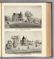 Residence of George Byron Chandler, Manchester, N.H. Drawn by Whinnery. D.H. Hurd & Co., Boston. (1892)