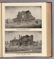Residence of Hon. Chas. H. Burke, cor. Main and Prospect streets, Nashua, N.H. (by) Whinnery. (D.H. Hurd & Co., Boston. 1892)