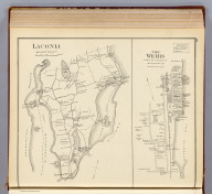 Laconia, Belknap County. (with) The Weirs, town of Laconia, Belknap Co. (D.H. Hurd & Co., Boston. 1892)