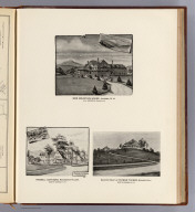 Iron Mountain House, Jackson, N.H., W.A. Meserve, proprietor. (with) Russell Cottages, Kearsarge Village, North Conway, N.H. (with) Country seat of Payson Tucker, Sunset Hill, North Conway, N.H. H.E. Greaves, 1891. (D.H. Hurd & Co., Boston. 1892)