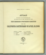 Title Page: Atlas California earthquake, April 18, 1906.