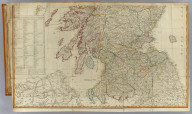 (A new and correct map of Scotland or North Britain with all the post and military roads, divisions & ca. South half. Drawn from the most approved surveys, illustrated with many additional improvements, and regulated by the latest astronomical observations by Lieutenant Campbell. London, Published by Laurie & Whittle, No. 53 Fleet Street, as the act directs 12th May 1794)
