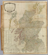 (Composite of) A new and correct map of Scotland or North Britain with all the post and military roads, divisions & ca. Drawn from the most approved surveys, illustrated with many additional improvements, and regulated by the latest astronomical observations by Lieutenant Campbell. (with) The islands of Shetland or Zetland, laid down on the same scale as the map. London, Published by Laurie & Whittle, No. 53 Fleet Street, as the act directs 12th May 1794.