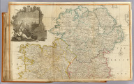A map of the Kingdom of Ireland divided into provinces, counties and baronies. (North half). Showing the archbishopricks, bishopricks, cities, boroughs, market towns, villages, barracks, mountains, lakes, bogs, rivers, bridges, ferries, passes, also the Great, the Branch & the By post roads, together with the inland navigation &c. by J. Rocque, Chorographer to His Majesty. (Published 12th May 1794 by Laurie & Whittle, 53 Fleet Street, London)