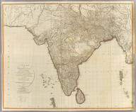 (Composite of) A new map of Hindoostan from the latest authorities. Chiefly from the actual surveys made by major James Rennell, Surveyor to the Hble. East India Company, of the Bengal Provinces, and of the countries lying between them and Delhy, the whole exhibiting all the military roads and passes, as well as the most accurate division of the British possessions in the East Indies. London, Published by Laurie & Whittle, 53, Fleet Street, 12th May, 1794. 2nd editn. corrected 1804.