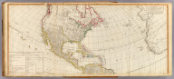 (A new map of the whole continent of America, divided into north and south and West Indies. North half. Wherein are exactly described the United States of North America as well as the several European possessions according to the Preliminaries of Peace signed at Versailles Jan. 20, 1783. Compiled from Mr. d'Anville's maps of that continent, with the addition of the Spanish discoveries in 1775 to the north of California & corrected in the several parts belonging to Great Britain, from the original materials of Governor Pownall, MP. London, Publish'd by Laurie & Whittle, No. 53, Fleet Street, as the act directs 12th May, 1794)