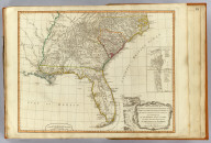 A new and general map of the southern dominions belonging to the United States of America, viz: North Carolina, South Carolina, and Georgia: with the bordering Indian countries, and the Spanish possessions of Louisiana and Florida. (with) Plan of Charlestown. (with) Plan of St. Augustine. London, Published by Laurie & Whittle, No. 53, Fleet Street, as the act directs 12th May, 1794.